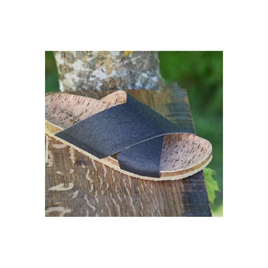 Sandal i Ananas Skind Sort