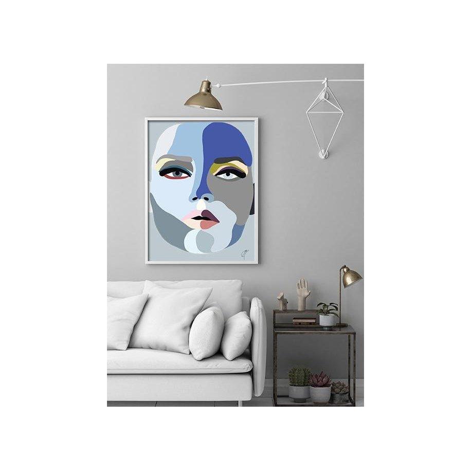 Faces Plakat Blue