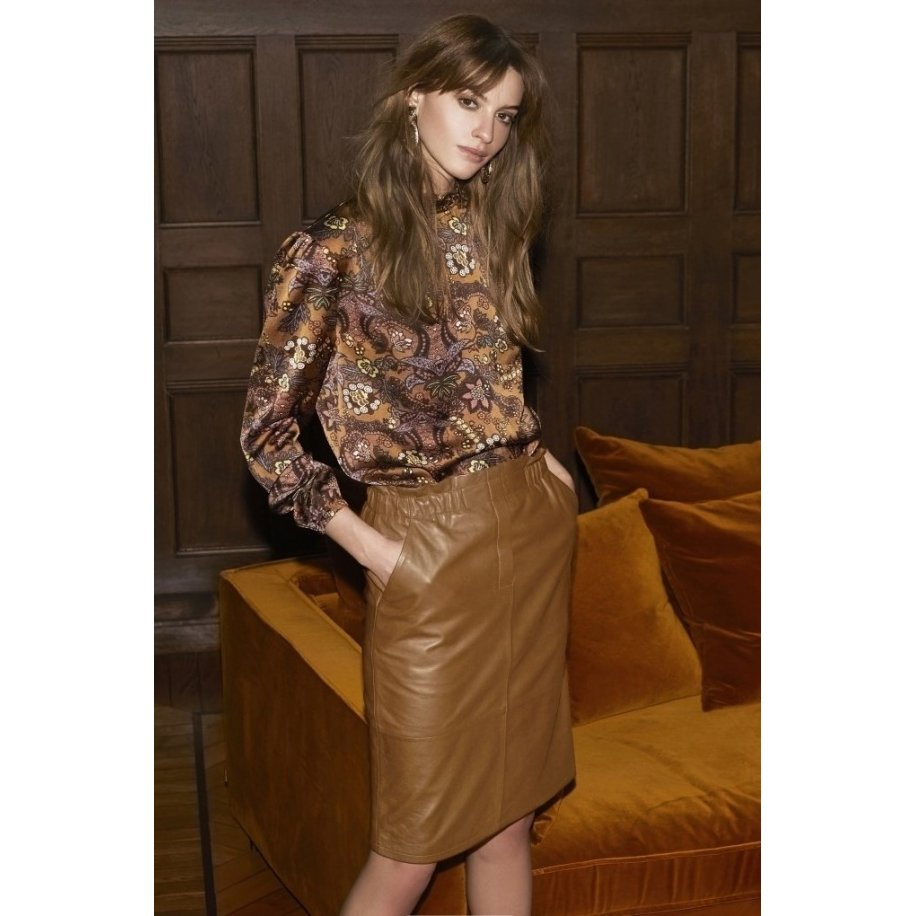 Paia Leather Skirt