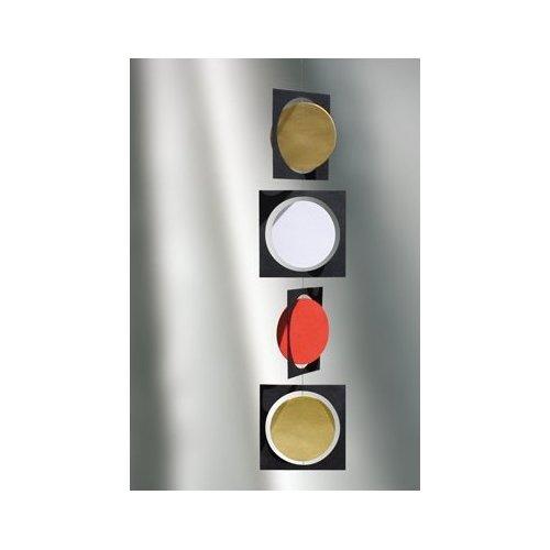 Circle Frame Sort/Guld/Rød