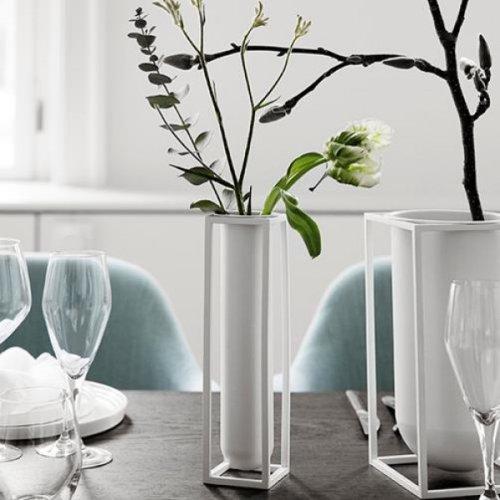 Kubus Flora Vase Hvid