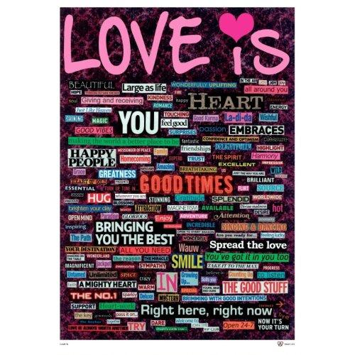 Heart Art Plakat Love Is