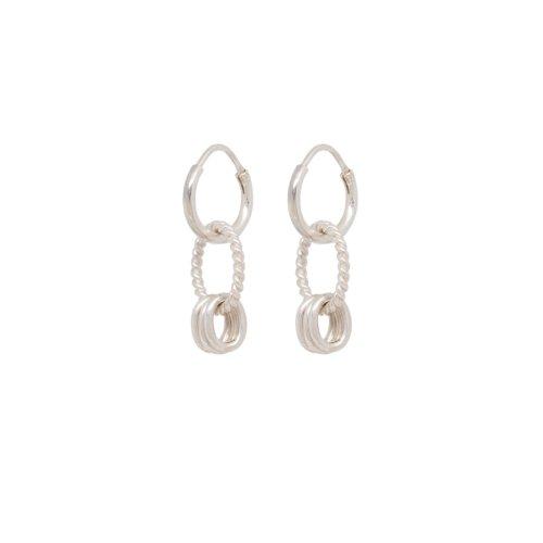 Rope Multi Ring Earring