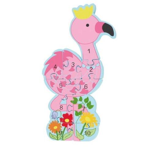 Puslespil Tal Flamingo